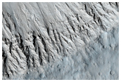 Layers Exposed in Crater Wall