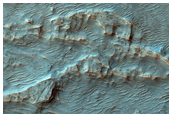 Region Shows Differentially-Eroded Fan Deposits