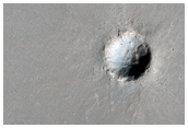 Small Fresh Crater in Daedalia Planum