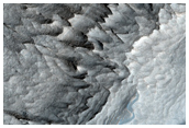 Vertical Exposure of Layering in West Candor Chasma