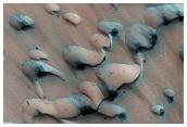 Defrosting Polar Sand Dunes