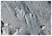 Faulted Layered Deposits in Eastern Candor Chasma