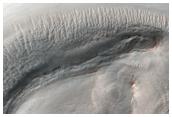 Crater in Icaria Planum