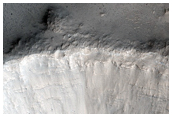 Small Impact with Lobate Ejecta Blanket Near Valles Marineris