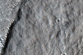 Flow Lobe on Outer Layer of Bacolor Crater Ejecta