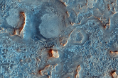 Rocky Material on Floor of Antoniadi Crater Basin