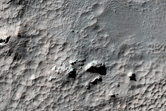 Unnamed Small Rayed Crater in Hesperia Region
