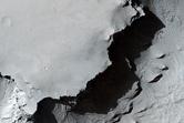 The Margin of a Pedestal Crater