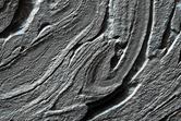 Banded Flow Terrain in Hellas Basin
