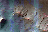 Possible Subsurface Erosion Features in Central Peak of a Crater
