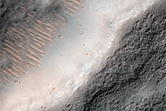 Double Terraces around Streamlined Hills in South End of Eastern Dao Vallis