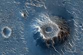 Cratered Cones in Utopia Planitia