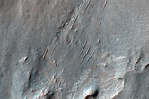 Tyrrhena Terra Crater with Phyllosilicate-Rich Ejecta