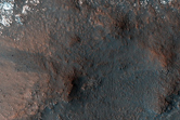Central Structure of Large Crater in Northern Plains