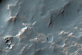 Light Deposits on Crater Floor