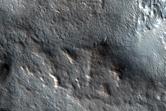 Head of Small Chasma on Edge of North Polar Layered Deposits