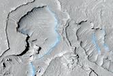Volcanic Fissure Vent in Elysium Planitia