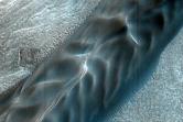 Scarp-Fed Dark Dunes