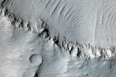 Raised Curvilinear Ridges in Aeolis Mensae