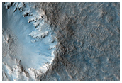 Fresh Crater Chain in Meridiani Planum