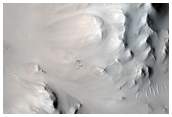 West Rim and Ejecta for Well-Preserved Crater in Isidis Region