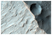 Gullies in Pole-Facing Slopes of Crater