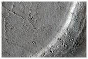 Embayed Crater in Western Elysium Planitia