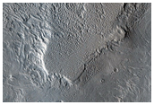 Fractures in a Mound of Layered Material