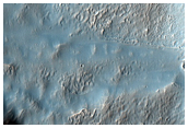 Gully in Crater Wall