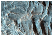 Flows From Central Peak of Moreux Crater