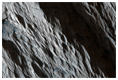 Light-Toned Rock Exposures on North Wall of Candor Chasma