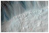 Dark Gully Material in Terra Cimmeria Crater
