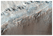 Gullies That Appear to Emanate From a Bedrock Layer