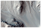 Gullies in Hale Crater Central Peak Seen in MOC Image M0904718