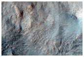 Gullies in Small Crater Near Morpheos Rupes