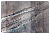 Gullies on Southwest Slope of Asimov Crater