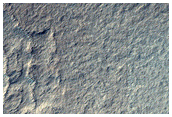 Hill and Adjacent Depression in Polar Layered Deposits