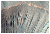 Light-Toned Gully Feature or Mass Movement