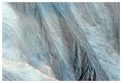 Gullies in Alcove Near Head of Dao Vallis in HiRISE Image PSP_007951_1465