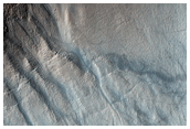 Central Peak Gullies of Lohse Crater