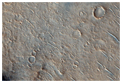 Chain of Cones and Craters in Isidis Planitia