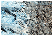 Light-Toned Fan-Like Features in Crater in Chryse Chaos