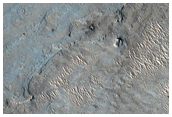 Layers in Crater Near West Rim of Gale Crater
