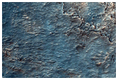 Possible Hydrate and Phyllosilicate-Rich Terrain in Crater Rim