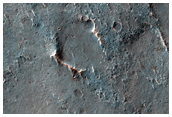 Sample of Area in East Thaumasia Planum with Lighter-Toned Rock Outcrops