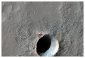 Small Crater with Thermally-Distinct Ejecta Facies