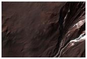 Gullies Cut into Light-Toned Rock
