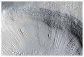 Small Crater Near Upper Reach of Mamers Valles