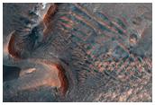 Boulder Tracks on the Slopes of Noctis Labyrinthus