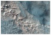 Bedrock in a Crater Northwest of Hellas Planitia